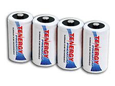 4 Tenergy Premium D-Size D NiMH Rechargeable Batteries