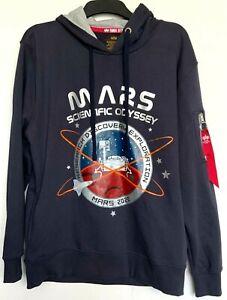 Alpha Industries Herren Pullover, Alpha Industries Nasa Mission To Mars Hoodie.