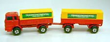 "Matchbox two-pack mercedes Truck & tráiler rojo & amarillo ""Trans Continental"""