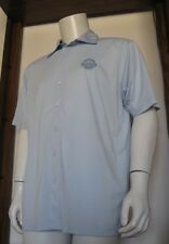 M Men Adidas ClimaCool Detroit Pistons Short Sleeve Button Shirt Blue EuC