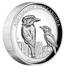 Australian Kookaburra1oz 9999 silver coin proof High Relief 2017 Perth Mint