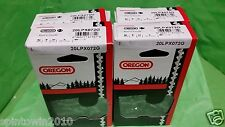 """4 Pack NEW Oregon 20LPX072G Chainsaw Chain 18"""" .325 .050 72 Drive Links"""
