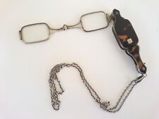 Antique Lorgnette Glasses Τortoise Shell Sterling Silver.