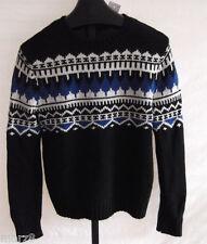 NWT Polo Ralph Lauren Cotton Cashmere & Angora Black Sweater Mens Size XXL