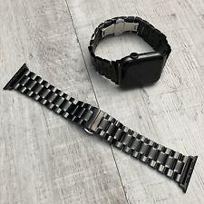 Für Apple Watch Series 5 4 3 42mm 44mm Schwarz Edelstahl Armband Watch Band