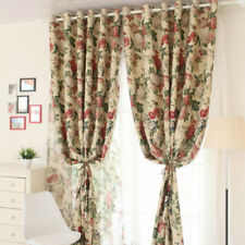 Semi-finished Floral Curtain Cloth Pelmets Voile Tulle Window Screen Drape Decor