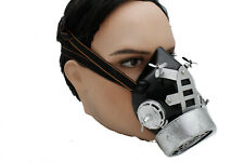 New Men Women Scary Black Silver Fashion Face Gas Mouth Mask Goth Punk Halloween