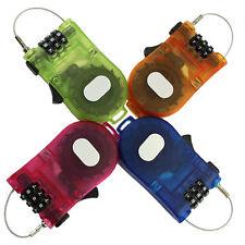 Popular Retractable Bike Bicycle Combination Cable Code Lock Luggage Padlock