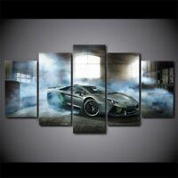 Luxury Sport Car 5 panel canvas Wall Art Home Decor Poster Print