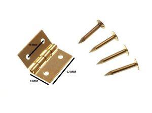 Mini Scharniere für Schmuck Boxen + Nadeln Messing 13mm (24 Paar)