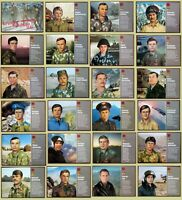 1988 RR! Full Set of 24 Soviet Russian Posters USSR Army Heroes War Afghanistan