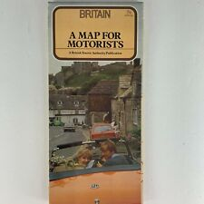 1982 Motorists Britain Map - Vintage Visitor's Guide, Maps, History