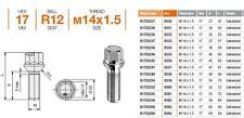 B528 BULLONI RUOTE B528 12x1,5x28 x MERCEDES CLASSE A,C,E,CLK,CLC,SL,SLK,VANEO