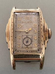 Bulova Circa 20's 30's Men's Art Deco Stepped Case w Hooded Lugs Watch Cal. 10AE