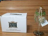 Kurt S Adler Noble Gems Wine Glass Ornament Mouth Blown Hand Painted Grapes Glit