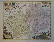 WORCESTERSHIRE AND WARWICKSHIRE BY JANSSONIUS. 1646 (BUT 1680).