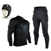 Long Short Sleeve Goalkeeper Protective Guard Body Elbow Pads Helmet Pant Short