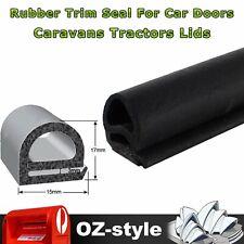 D Shape Rubber Seal Trim Car Door Hood Trunk Edge Protector Noise Dust Proof 3Ms
