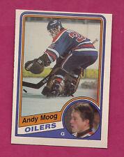 1984-85 OPC # 255 OILERS ANDY MOOG EX-MT  CARD