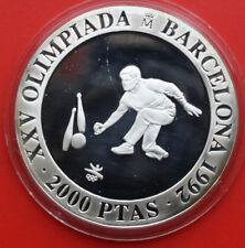 Spain-Spanien: 2000 Pesetas 1991, 0.925 Silber Proof-PP, KM# 890, #F1420