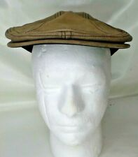 Henschel Hat Company Leather Newsboy Brown Size Small Medium
