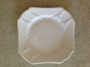 Shelley dainty white square  bread  and butter plate  in great condition