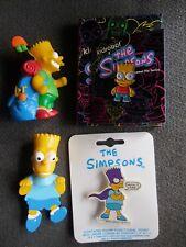 Bart Simpson 4pc Lot Enamel Pin By Kidrobot Bartman Pin Bookmark & Vinyl Figure