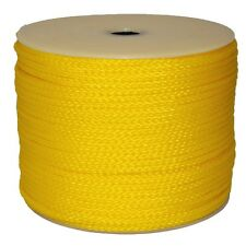 "T.W. Evans Cordage Co. 27-303 - 1/4"" X 1000' Yellow Hollow Braid Polypro Rope"