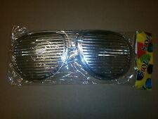 20 x  Riesen Silber 26 cm Partybrille Atzenbrille Party Gitter Karneval R 214