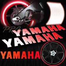 "8"" Reflective Logo Decal+16""17""18"" Rim Tape/Wheel Stripe Sticker for Yamaha Red"