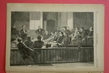 Harper's Weekly 2/20/1869  Famous Winslow Homer Juror's Listening to Counsel NY