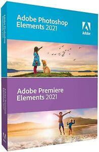 Adobe Photoshop Elements 2021 and Premiere Elements 2021 Mac Windows Retail Pkg
