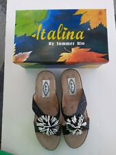 Comfortable Black Sandals Size 10M with a 2 Inch Wedge Italina by Summer Rio
