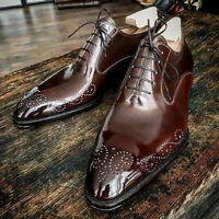 New Handmade Men American Luxury Brogues Tip Leather Dress Shoes, Lederschuhe