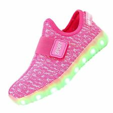 Boys Girls Breathable Led Light Up Shoes Led Sneakers Luminous Shoes