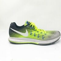 Nike Womens Air Zoom Pegasus 33 831356-007 Gray Volt Running Shoes Size 9.5