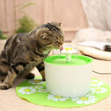 Flowery Pet Drinking Water Fountain Electric Cat Dog Automatic Bowl Filter 1.6L