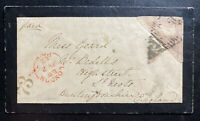1862 Cape Of Good Hope South Africa Mourning Cover To St Neots England