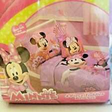 Minnie Mouse Toddler Bedding Minnie's Fluttery Friends New 4 Piece