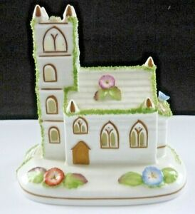 "VINTAGE COALPORT COTTAGE PORCELAIN ""VILLAGE CHURCH"" IN PERFECT CONDITION"