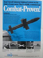 7/1976 PUB IAI ISRAEL AIRCRAFT ARAVA WESTWIND GABRIEL SEA TO SEA MISSILE AD