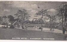Majors Motel Grade A Steam Heat KINGSPORT TN Vintage PM 1949 Postcard