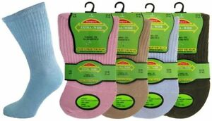 Ladies Diabetic Socks EXTRA WIDE Non Elastic with Hand Linked Toes Multi 3 Pairs