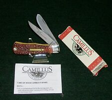 """Camillus Remington Knife 17 Cal. Hornady 3-5/8"""" 1990's USA W/Packaging,Papers"""