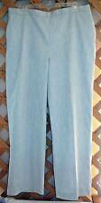 ALFRED DUNNER PANTS~Light Gray~Flat Front~Elastic Back Waistband~Pockets~Miss 18