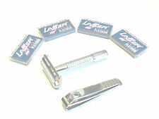 CLASSIC OLD FASHIONED SAFETY RAZOR BUTTERFLY STYLE WITH BLADES AND NAIL CLIPPER