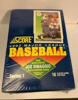 1992 SCORE BASEBALL SERIES 1 SEALED FACTORY BOX JOE DIMAGGIO AUTO POSSIBLE