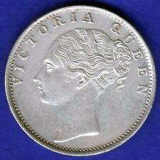 BRITISH INDIA-1840-CONTINUES LEGEND-ONE RUPEE-VICTORIA- NEAR UNC SILVER COIN-2