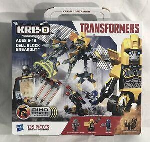 2014 Hasbro Kre-O Transformers CELL BLOCK BREAKOUT Set A6951, Optimus, Bumblebee