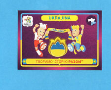 PANINI-EURO 2012-Figurina n.42- UCRAINA -NEW-DARK BOARD